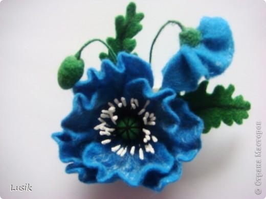 Первые мои валяные цветочки, немного смешные и совсем простенькие. фото 12