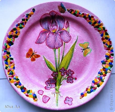 Цветочный горшочек с нанесённым декупажом и залакированный. фото 4