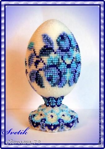 яйцо из бисера ГЖЕЛЬ