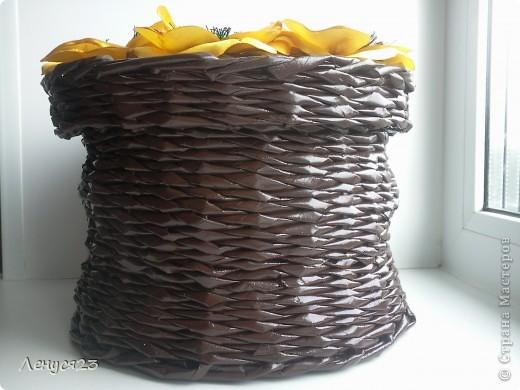 Плетёнка с желтыми маками фото 4
