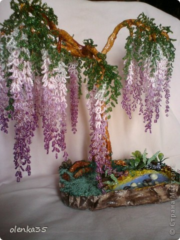 Глициния-дерево из бисера фото 1