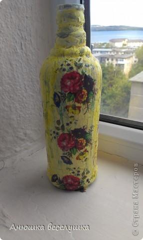 Бутылка. Кракле на ПВА.  фото 2