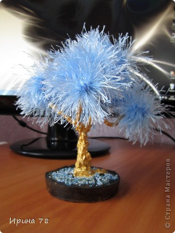 "Деревце из голубой ""травки"" фото 1"