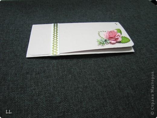 конверт-открытка розовая фото 3