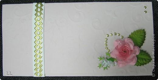 конверт-открытка розовая фото 2