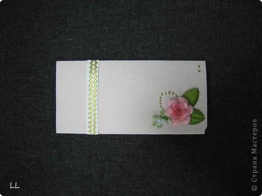 конверт-открытка розовая фото 1