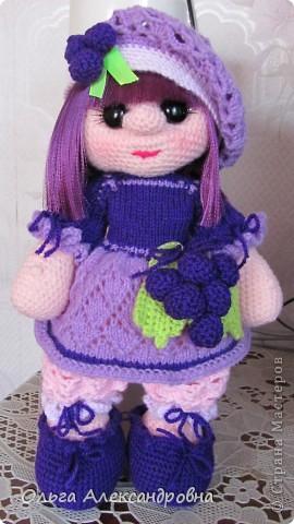 Дорогие гости блога, хочу вам показать куколку, которую только - только связала. Это Виноградинка. Прошу любить и жаловать. фото 1
