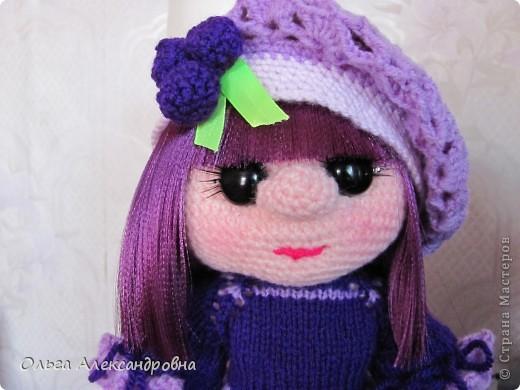 Дорогие гости блога, хочу вам показать куколку, которую только - только связала. Это Виноградинка. Прошу любить и жаловать. фото 3