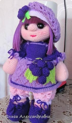 Дорогие гости блога, хочу вам показать куколку, которую только - только связала. Это Виноградинка. Прошу любить и жаловать. фото 7