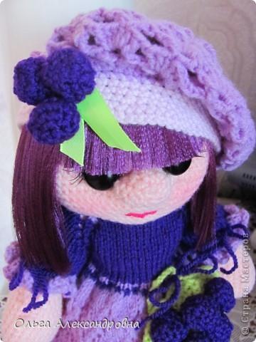 Дорогие гости блога, хочу вам показать куколку, которую только - только связала. Это Виноградинка. Прошу любить и жаловать. фото 6
