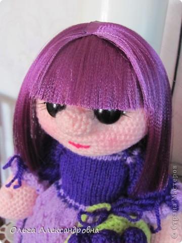 Дорогие гости блога, хочу вам показать куколку, которую только - только связала. Это Виноградинка. Прошу любить и жаловать. фото 9