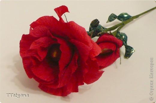 Веточка розы из конфет