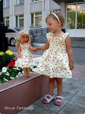 Панамка и платье для летних прогулок принцессы! Увидела эту ткань и не смогла пройти мимо, не купив ее, так она мне понравилась своей нежностью! фото 4