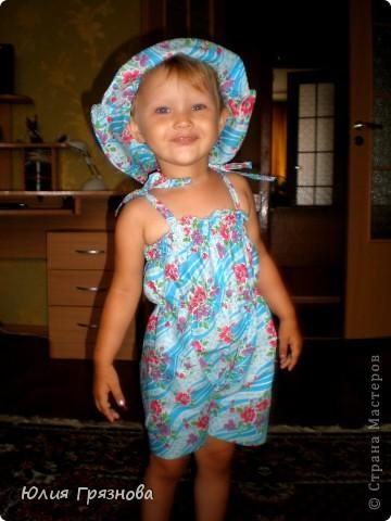 Панамка и платье для летних прогулок принцессы! Увидела эту ткань и не смогла пройти мимо, не купив ее, так она мне понравилась своей нежностью! фото 6