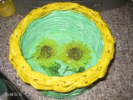 плетёнка с подсолнухами фото 2