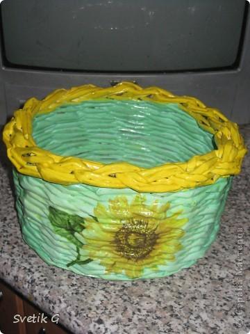 плетёнка с подсолнухами фото 3