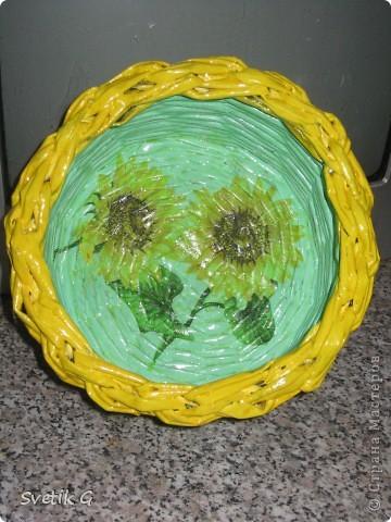 плетёнка с подсолнухами фото 1