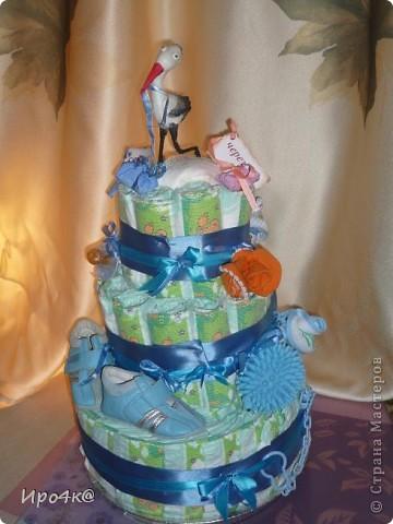 Вот и у нас появился повод для памперсового тортика! фото 1