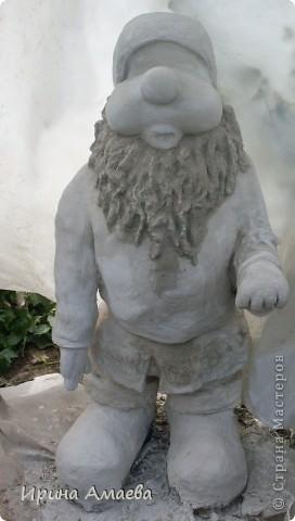 фигурка для сада Гном высотой 11Осм фото 7