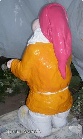 фигурка для сада Гном высотой 11Осм фото 9