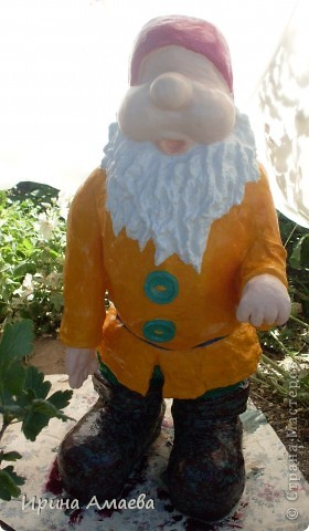 фигурка для сада Гном высотой 11Осм фото 11