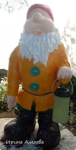 фигурка для сада Гном высотой 11Осм фото 12