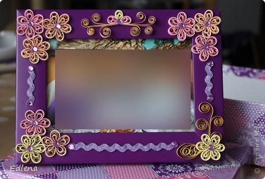 Рамочка подарочная, спасибо за МК цеточков Lady_Natasha http://stranamasterov.ru/node/390556?tid=451, простота, ажурность и красота!