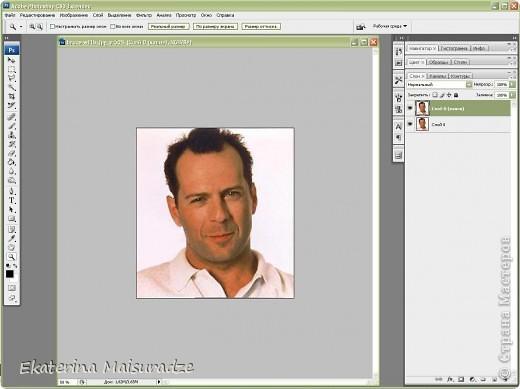 ДОБРОГО ВРЕМЕНИ СУТОК!!! Попробую показать и объяснить как делаю шаблон в графическом редакторе Photoshop. У меня стоит версия Photoshop CS3. --------------------------------------------------- Должна сказать, что используя Photoshop хорошо  получаются фотографии в качестве портрета, где светлый фон и нет множества лишних деталей.  Есть два варианта создания шаблона: ПЕРВЫЙ - используя коррекцию изображения ИЗОГЕЛИЯ и ДИФФУЗИЮ. ВТОРОЙ - используя фильтр ПОЧТОВАЯ БУМАГА   фото 3