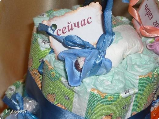 Вот и у нас появился повод для памперсового тортика! фото 3