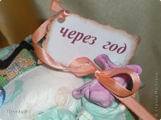 Вот и у нас появился повод для памперсового тортика! фото 4