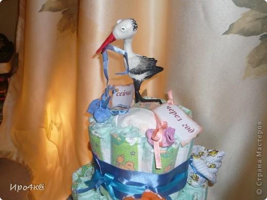 Вот и у нас появился повод для памперсового тортика! фото 5