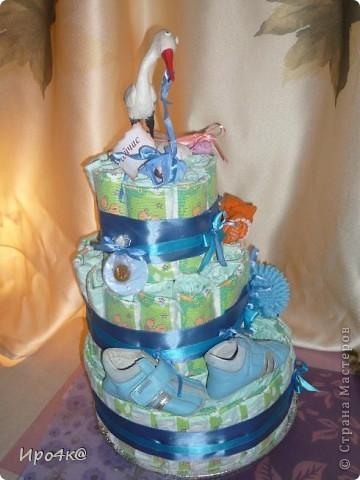 Вот и у нас появился повод для памперсового тортика! фото 6