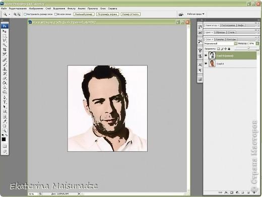 ДОБРОГО ВРЕМЕНИ СУТОК!!! Попробую показать и объяснить как делаю шаблон в графическом редакторе Photoshop. У меня стоит версия Photoshop CS3. --------------------------------------------------- Должна сказать, что используя Photoshop хорошо  получаются фотографии в качестве портрета, где светлый фон и нет множества лишних деталей.  Есть два варианта создания шаблона: ПЕРВЫЙ - используя коррекцию изображения ИЗОГЕЛИЯ и ДИФФУЗИЮ. ВТОРОЙ - используя фильтр ПОЧТОВАЯ БУМАГА   фото 10