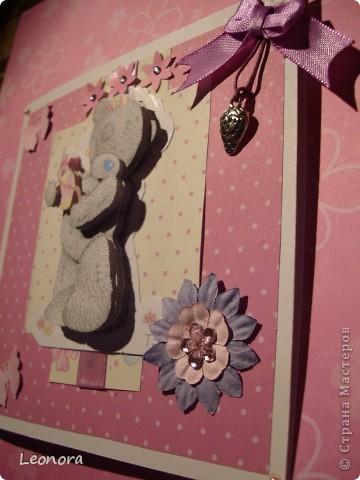 Еще одна открыточка с мишуткой для моей любимой крестницы) фото 2