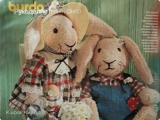 Продолжаю свадебную тему ... и хочу познакомить вас с этими Зайцами, которых мы подарили  Косте и Даше в день их свадьбы - в пятницу 13 - го ... июля. фото 2