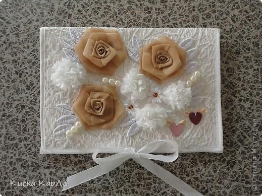 Свадебный переполох закончился ... и я хочу показать вам открытку, которую мы с мамой делали к свадьбе. Прошу не судить строго ... очень торопились !!! фото 1