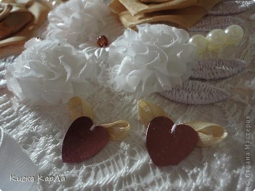 Свадебный переполох закончился ... и я хочу показать вам открытку, которую мы с мамой делали к свадьбе. Прошу не судить строго ... очень торопились !!! фото 3