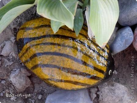 Кроме декупажа http://stranamasterov.ru/node/398848, попробовала камушки облагородить. Получились вот такие букашки  фото 4