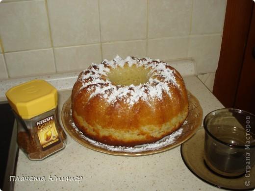 Вкусный и ароматный ванильный кекс. фото 1