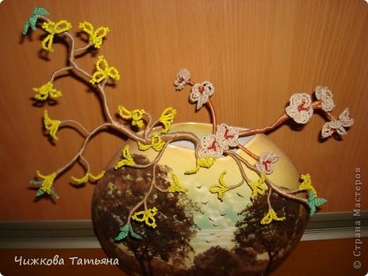 Давно хотелось сплести орхидею, выставляю на ваш суд.... фото 4
