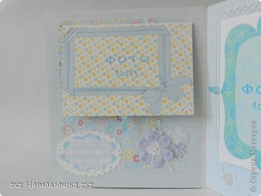 Здравствуйте!!Это опять я)))Сегодня с альбомчиком для новорождённого)Опробовала мягкую обложку(накосячила немного)))) Это коробка для альбома,купила в канцтоварах архивную коробку картонную и обтянула тканью... фото 8