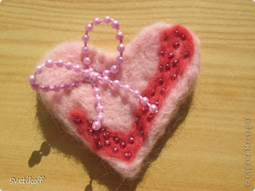Сердечко-магнитик.  фото 1