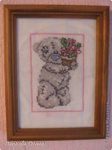 Люблю вышивать крестиком, а особенно милых мишек Тедди!)) фото 1