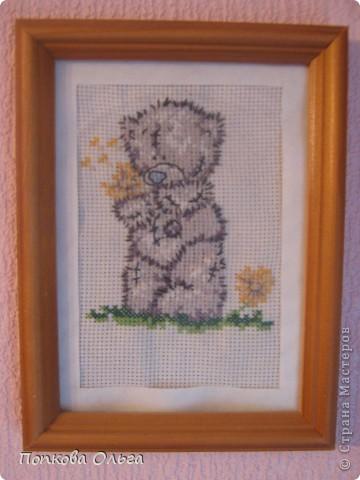 Люблю вышивать крестиком, а особенно милых мишек Тедди!)) фото 4