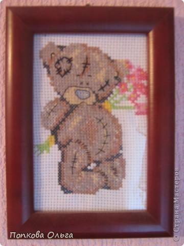 Люблю вышивать крестиком, а особенно милых мишек Тедди!)) фото 3