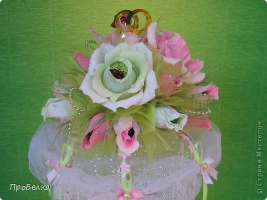 Здравствуйте! Несмотря на жару хочется творить, да ещё с конфетками! Мой вклад в свадебную пору-Беседка или Как красиво подарить денежку на свадьбу. фото 3
