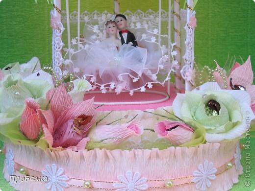 Здравствуйте! Несмотря на жару хочется творить, да ещё с конфетками! Мой вклад в свадебную пору-Беседка или Как красиво подарить денежку на свадьбу. фото 4