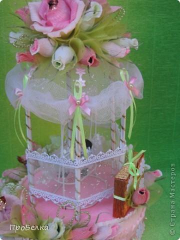 Здравствуйте! Несмотря на жару хочется творить, да ещё с конфетками! Мой вклад в свадебную пору-Беседка или Как красиво подарить денежку на свадьбу. фото 2