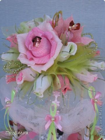 Здравствуйте! Несмотря на жару хочется творить, да ещё с конфетками! Мой вклад в свадебную пору-Беседка или Как красиво подарить денежку на свадьбу. фото 10