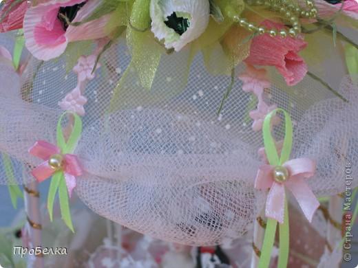 Здравствуйте! Несмотря на жару хочется творить, да ещё с конфетками! Мой вклад в свадебную пору-Беседка или Как красиво подарить денежку на свадьбу. фото 11